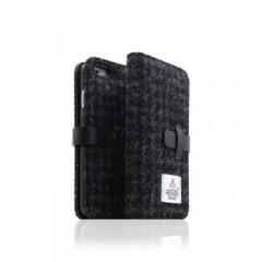 【iPhone6s/6 ケース】Harris Tweed Diary ブラック