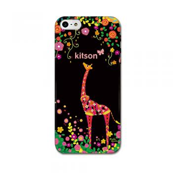 【iPhone SE 5s/5 ケース】kitson(キットソン) きりん(黒)