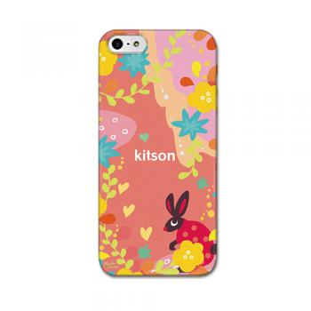【iPhone SE 5s/5 ケース】kitson(キットソン) うさぎ(赤)