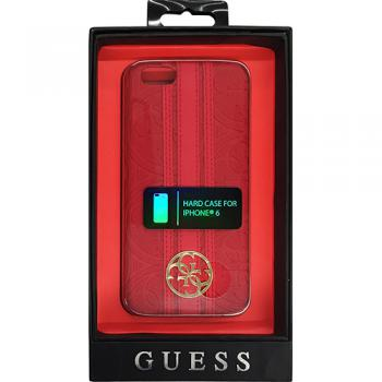 【iPhone6s/6 ケース】Guess Heritage Hard case ソフトレザーハードケース レッド