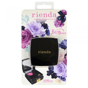 【モバイルバッテリー】 rienda COSMETIC BATTERY RICH BLACK