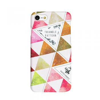 【iPhone8/7 ケース】ハードケース Triangle Pattern ピンク