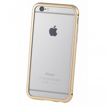 【iPhone6s/6 ケース】クリスタルアーマー METAL BUMPER CHAMPAGNE GOLD