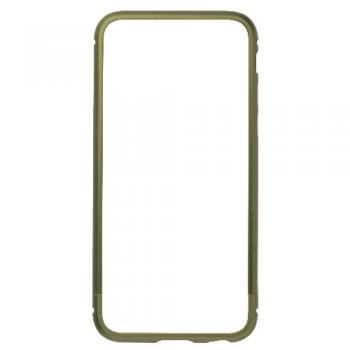 【iPhone6s/6 ケース】クリスタルアーマー METAL BUMPER ARMY GREEN